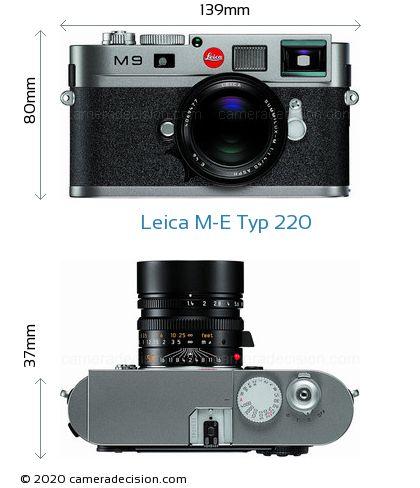 Leica M-E Typ 220 Body Size Dimensions