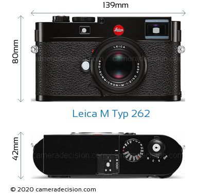 Leica M Typ 262 Body Size Dimensions