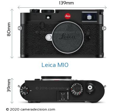 Leica M10 Body Size Dimensions