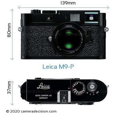 Leica M9-P Body Size Dimensions
