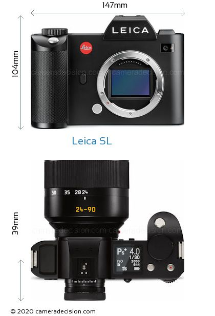 Leica SL Body Size Dimensions