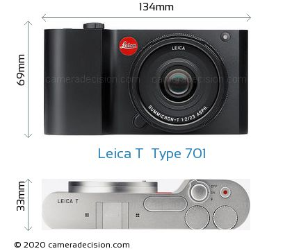 Leica T  Type 701 Body Size Dimensions