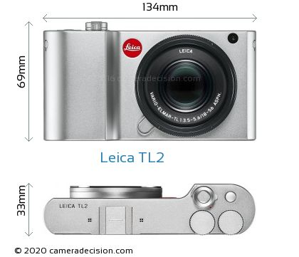 Leica TL2 Body Size Dimensions