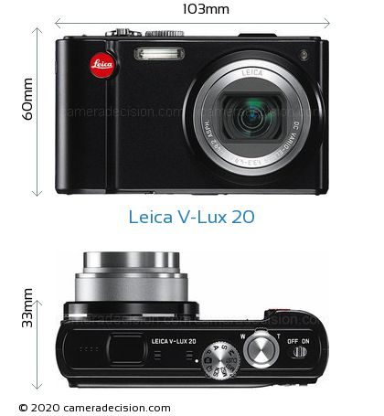 Leica V-Lux 20 Body Size Dimensions