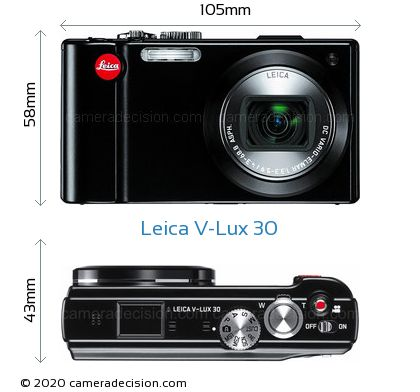 Leica V-Lux 30 Body Size Dimensions