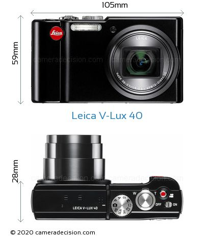 Leica V-Lux 40 Body Size Dimensions