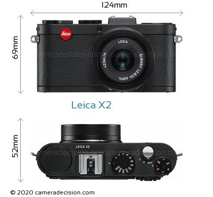 Leica X2 Body Size Dimensions