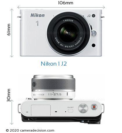 Nikon 1 J2 Body Size Dimensions