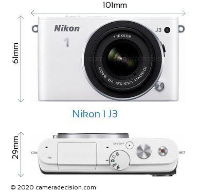 Nikon 1 J3 Body Size Dimensions