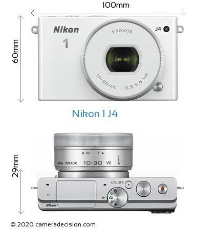 Nikon 1 J4 Body Size Dimensions
