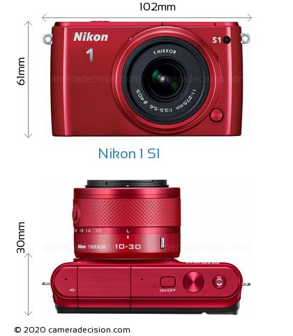 Nikon 1 S1 Body Size Dimensions