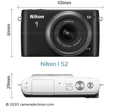 Nikon 1 S2 Body Size Dimensions