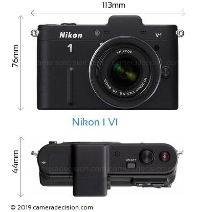 Nikon 1 V1 Body Size Dimensions