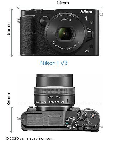 Nikon 1 V3 Body Size Dimensions