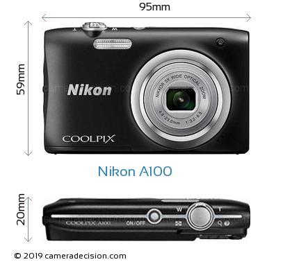 Nikon A100 Body Size Dimensions