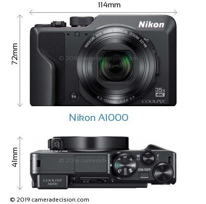 Nikon A1000 Body Size Dimensions