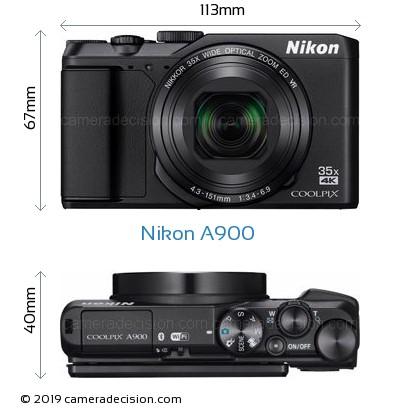 Nikon A900 Body Size Dimensions