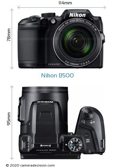 Nikon B500 Body Size Dimensions