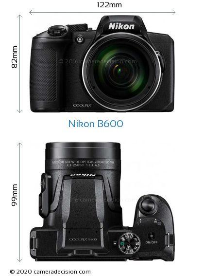 Nikon B600 Body Size Dimensions