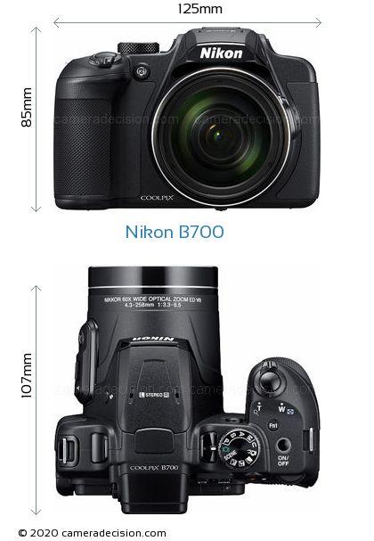 Nikon B700 Body Size Dimensions