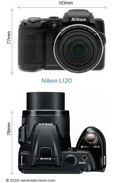 Nikon L120 Body Size Dimensions