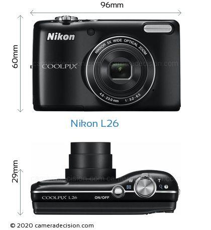Nikon L26 Body Size Dimensions