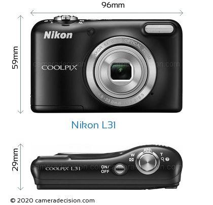 Nikon L31 Body Size Dimensions