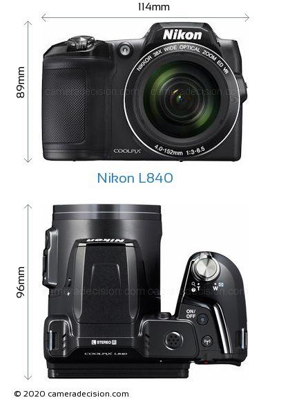 Nikon L840 Body Size Dimensions