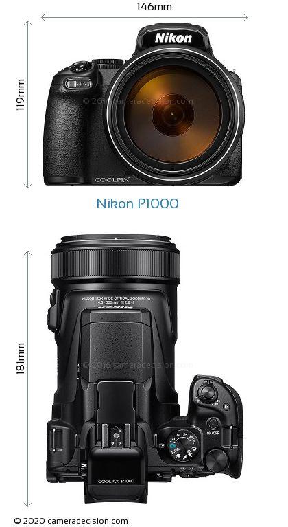 Nikon P1000 Body Size Dimensions