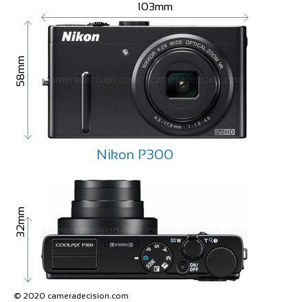 Nikon P300 Body Size Dimensions