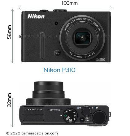 Nikon P310 Body Size Dimensions