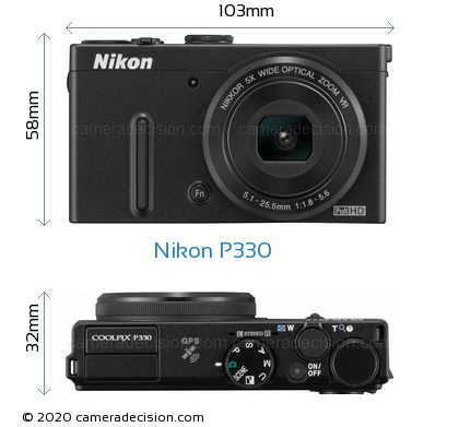 Nikon P330 Body Size Dimensions