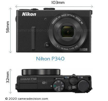 Nikon P340 Body Size Dimensions