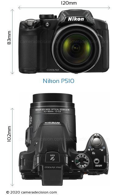 Nikon P510 Body Size Dimensions