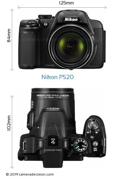 Nikon P520 Body Size Dimensions