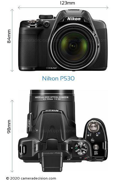 Nikon P530 Body Size Dimensions