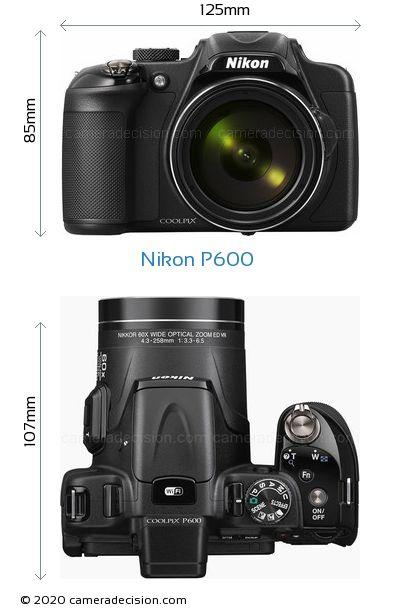 Nikon P600 Body Size Dimensions