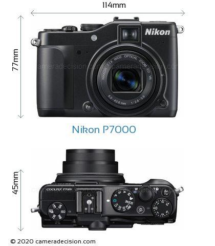 Nikon P7000 Body Size Dimensions