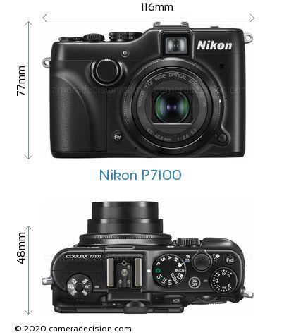 Nikon P7100 Body Size Dimensions