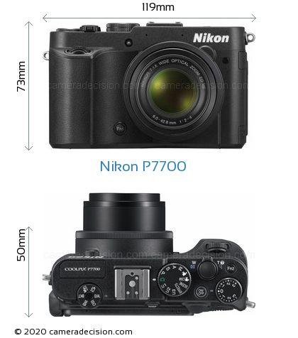 Nikon P7700 Body Size Dimensions