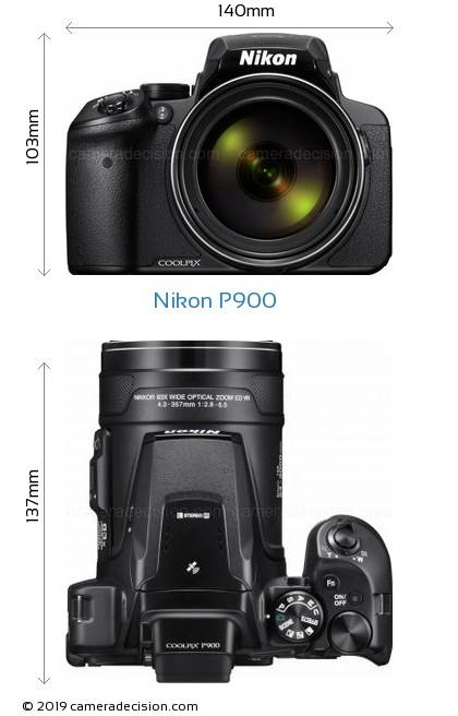 Nikon P900 Body Size Dimensions