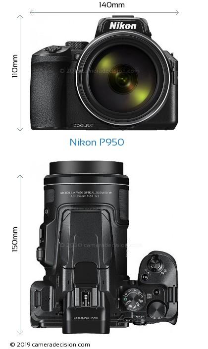 Nikon P950 Body Size Dimensions