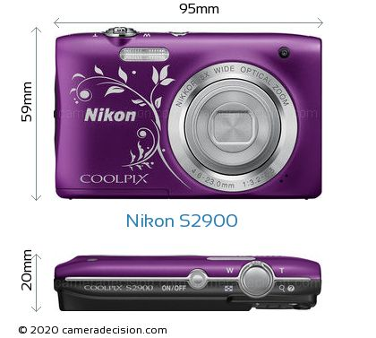 Nikon S2900 Body Size Dimensions