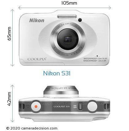 Nikon S31 Body Size Dimensions