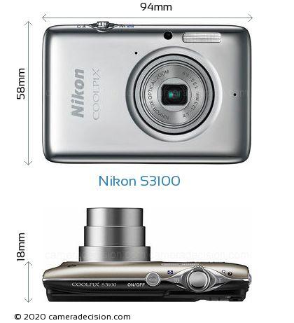 Nikon S3100 Body Size Dimensions