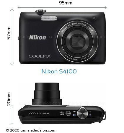 Nikon S4100 Body Size Dimensions