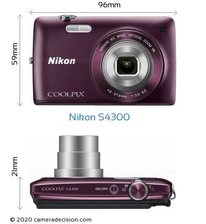 Nikon S4300 Body Size Dimensions