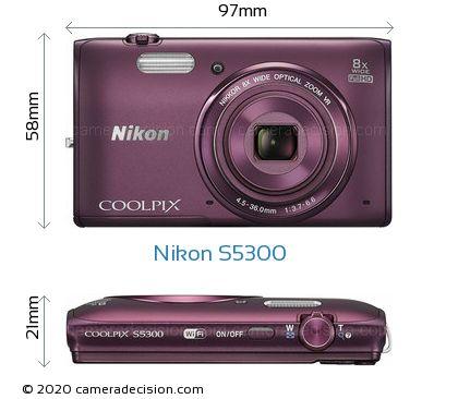 Nikon S5300 Body Size Dimensions