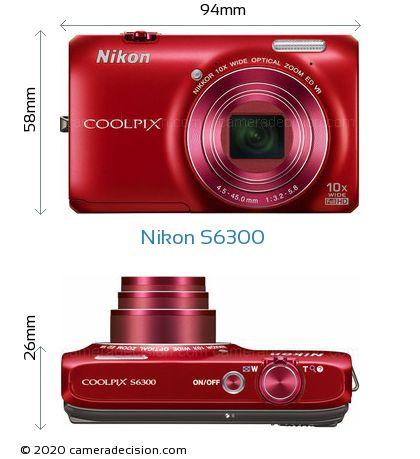 Nikon S6300 Body Size Dimensions