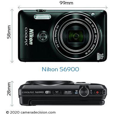 Nikon S6900 Body Size Dimensions